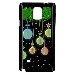 Christmas balls - pastel Samsung Galaxy Note 4 Case (Black)
