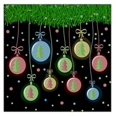 Christmas balls - pastel Large Satin Scarf (Square)