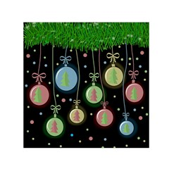 Christmas balls - pastel Small Satin Scarf (Square)