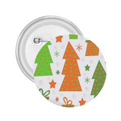 Christmas design - green and orange 2.25  Buttons