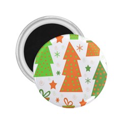 Christmas design - green and orange 2.25  Magnets