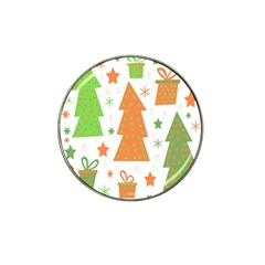 Christmas design - green and orange Hat Clip Ball Marker (10 pack)