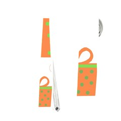 Christmas design - green and orange Neckties (Two Side)