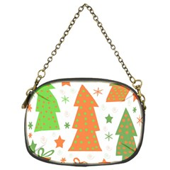 Christmas design - green and orange Chain Purses (Two Sides)