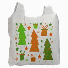 Christmas design - green and orange Recycle Bag (One Side)