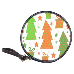 Christmas design - green and orange Classic 20-CD Wallets