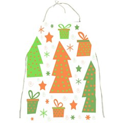 Christmas design - green and orange Full Print Aprons
