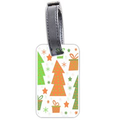 Christmas design - green and orange Luggage Tags (One Side)