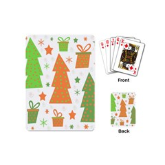 Christmas design - green and orange Playing Cards (Mini)
