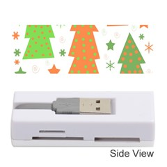 Christmas design - green and orange Memory Card Reader (Stick)