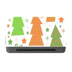 Christmas design - green and orange Memory Card Reader with CF
