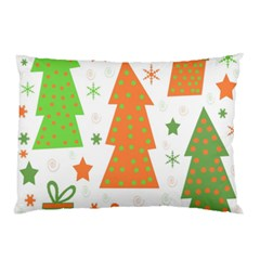 Christmas design - green and orange Pillow Case (Two Sides)