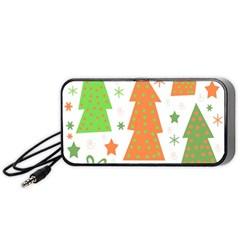 Christmas design - green and orange Portable Speaker (Black)
