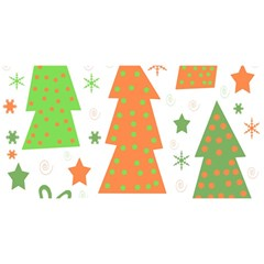 Christmas design - green and orange YOU ARE INVITED 3D Greeting Card (8x4)