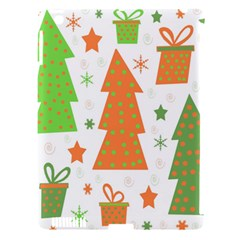 Christmas design - green and orange Apple iPad 3/4 Hardshell Case (Compatible with Smart Cover)