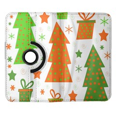 Christmas design - green and orange Samsung Galaxy Note II Flip 360 Case