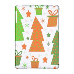 Christmas design - green and orange Apple iPad Mini Hardshell Case (Compatible with Smart Cover)