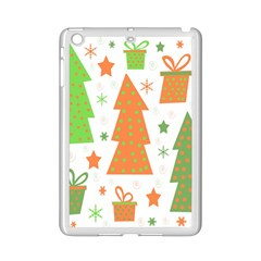 Christmas design - green and orange iPad Mini 2 Enamel Coated Cases