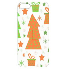 Christmas design - green and orange Apple iPhone 5 Hardshell Case with Stand