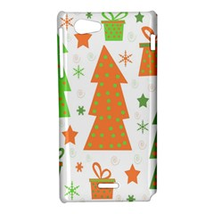 Christmas design - green and orange Sony Xperia J