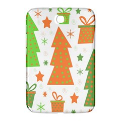 Christmas design - green and orange Samsung Galaxy Note 8.0 N5100 Hardshell Case