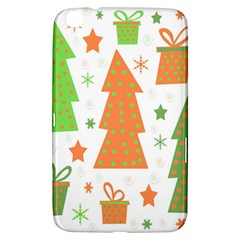 Christmas design - green and orange Samsung Galaxy Tab 3 (8 ) T3100 Hardshell Case