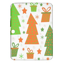 Christmas design - green and orange Samsung Galaxy Tab 3 (10.1 ) P5200 Hardshell Case