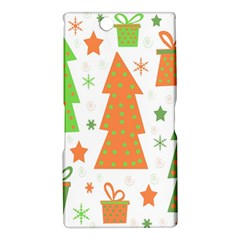 Christmas design - green and orange Sony Xperia Z Ultra