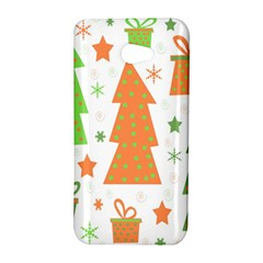 Christmas design - green and orange HTC Butterfly S/HTC 9060 Hardshell Case