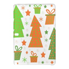 Christmas design - green and orange Samsung Galaxy Tab Pro 12.2 Hardshell Case