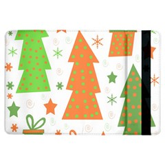 Christmas design - green and orange iPad Air Flip