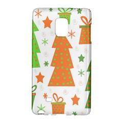 Christmas design - green and orange Galaxy Note Edge