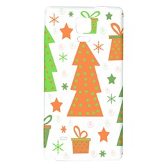 Christmas design - green and orange Galaxy Note 4 Back Case