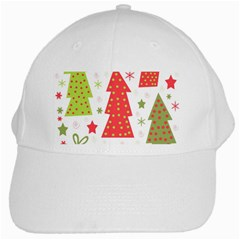 Christmas design - green and red White Cap