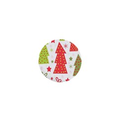 Christmas Design   Green And Red 1  Mini Magnets