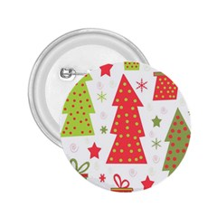 Christmas design - green and red 2.25  Buttons