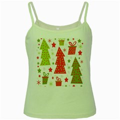 Christmas design - green and red Green Spaghetti Tank