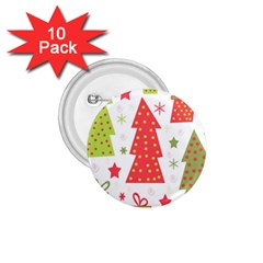 Christmas design - green and red 1.75  Buttons (10 pack)