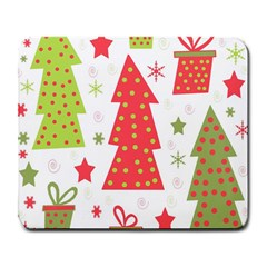 Christmas design - green and red Large Mousepads