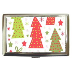 Christmas design - green and red Cigarette Money Cases