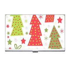 Christmas design - green and red Business Card Holders
