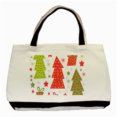 Christmas design - green and red Basic Tote Bag