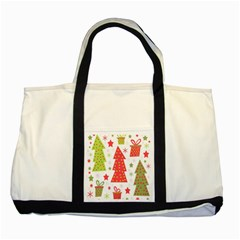 Christmas design - green and red Two Tone Tote Bag