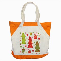 Christmas design - green and red Accent Tote Bag