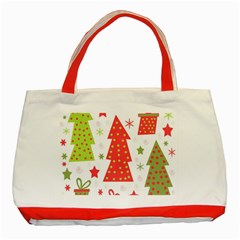Christmas design - green and red Classic Tote Bag (Red)
