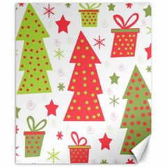 Christmas design - green and red Canvas 8  x 10