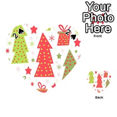 Christmas design - green and red Playing Cards 54 (Heart)
