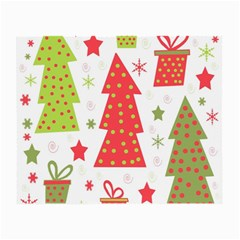 Christmas design - green and red Small Glasses Cloth (2-Side)