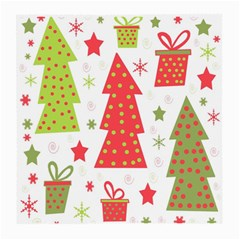 Christmas design - green and red Medium Glasses Cloth