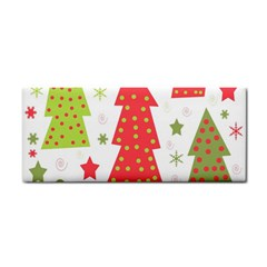 Christmas design - green and red Hand Towel
